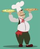 Italiensk kock vektor illustrationer
