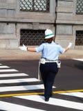 italiensk kvinnlig polis Royaltyfria Foton