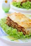 italiensk lasagna Arkivfoton