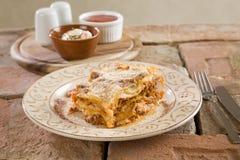 italiensk lasagna Royaltyfri Bild