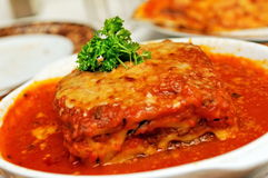 italiensk lasagne Royaltyfri Fotografi