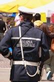 Italiensk lokal polis - den Vigile urbanoen - Polizia municipale Royaltyfria Bilder