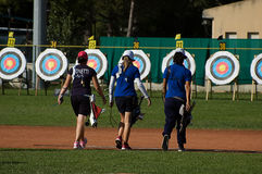 Italiensk mästerskapplatta Chieti 2014 Arkivfoton