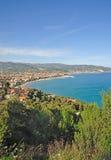 italiensk marina riviera för diano arkivfoton