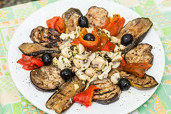 Italiensk mat grillade grönsaker Fotografering för Bildbyråer