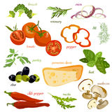 Italiensk matbakgrund stock illustrationer