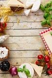 Italiensk matlagning arkivfoto