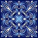 Italiensk modell för keramisk tegelplatta Etnisk folkprydnad vektor illustrationer