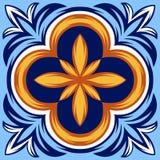 Italiensk modell för keramisk tegelplatta Etnisk folkprydnad stock illustrationer