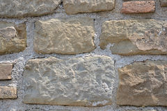 Italiensk naturlig stenvägg Arkivfoto
