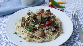 Italiensk ny pasta stock video
