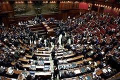 Italiensk parlament Arkivfoton