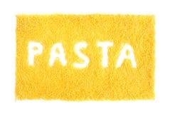 Italiensk pastabakgrund Arkivfoton