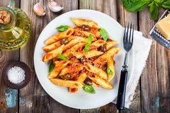 italiensk pastapenne Fotografering för Bildbyråer