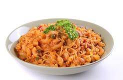 italiensk pastaplatta arkivbild