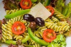 italiensk pastasallad för fusilli royaltyfri bild