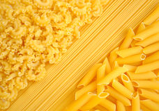 Italiensk pastasamlingsbakgrund Arkivfoton