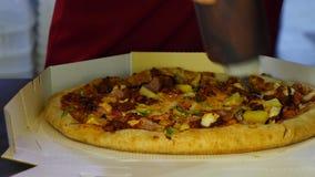italiensk pizza stock video