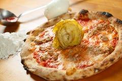 Italiensk Pizzasakkunnig Arkivfoto