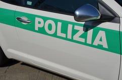italiensk polis för bil Arkivfoton