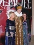 Italiensk prins Lorenzo Medichi Jr. Stor maskeradkläderboll i renässansstil Arkivfoton