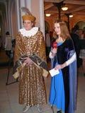 Italiensk prins Lorenzo Medichi Jr. Stor maskeradkläderboll i renässansstil Royaltyfri Foto