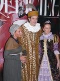 Italiensk prins Lorenzo Medichi Jr. Stor maskeradkläderboll i renässansstil Royaltyfri Fotografi
