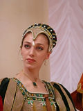 Italiensk prins Lorenzo Medichi Jr. Stor maskeradkläderboll i renässansstil Arkivfoto