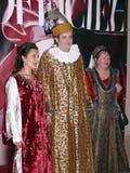 Italiensk prins Lorenzo Medichi Jr. Stor maskeradkläderboll i renässansstil Royaltyfria Bilder