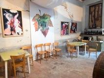 italiensk restaurang Arkivfoton