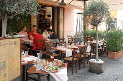 italiensk restaurang Arkivfoto