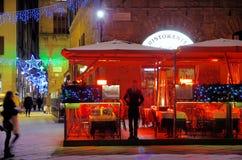 italiensk restaurang Royaltyfri Fotografi