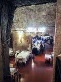 italiensk restaurang Arkivbild