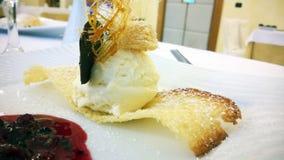italiensk söt tiramisu för ostefterrätt Arkivbild