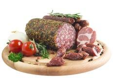 italiensk salami royaltyfri bild