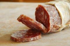 italiensk salami Arkivbilder
