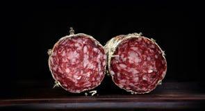 italiensk salami Arkivfoton