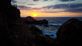 Italiensk solnedgång Royaltyfria Bilder