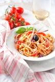 Italiensk vegetarisk spagetti Royaltyfria Foton