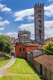 Italiensk stad av Lucca royaltyfri fotografi