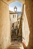 Italiensk stad av Sperlonga arkivfoton