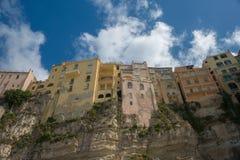 Italiensk stad Tropea Arkivfoto