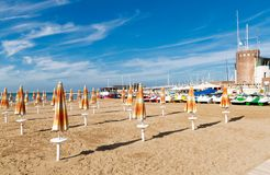 Italiensk strand Royaltyfria Bilder
