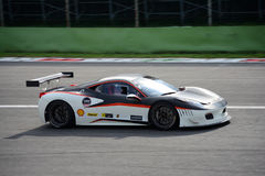 Italiensk Supercar Ferrari 458 Italia GT3 Arkivfoton