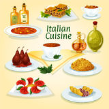 Italiensk symbol för populär disk för kokkonst vektor illustrationer