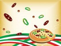 italiensk wallpaper Arkivfoto