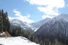 Italienska alpina passerande Fotografering för Bildbyråer
