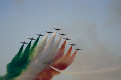 italienska aviojets Royaltyfri Foto
