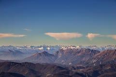 Italienska berg i vintern Royaltyfria Bilder