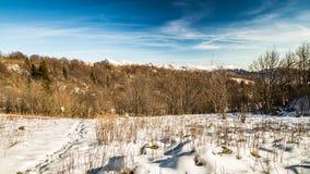 Italienska berg i vintern Fotografering för Bildbyråer